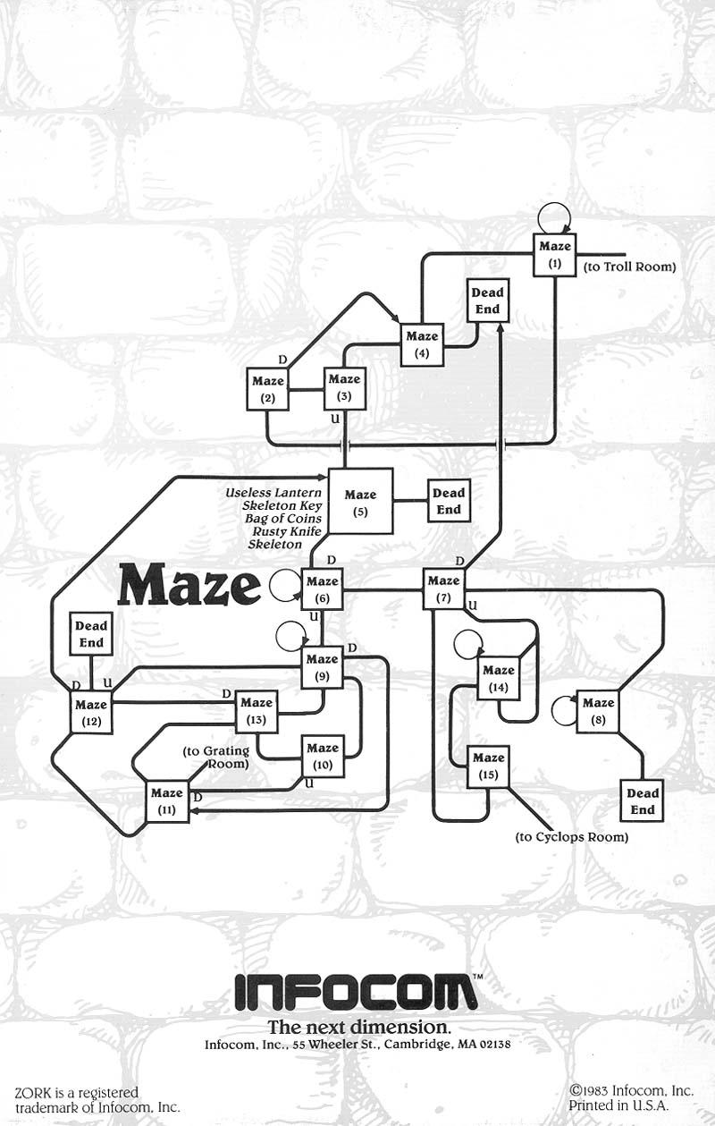 The Infocom Gallery: Zork I InvisiClues on